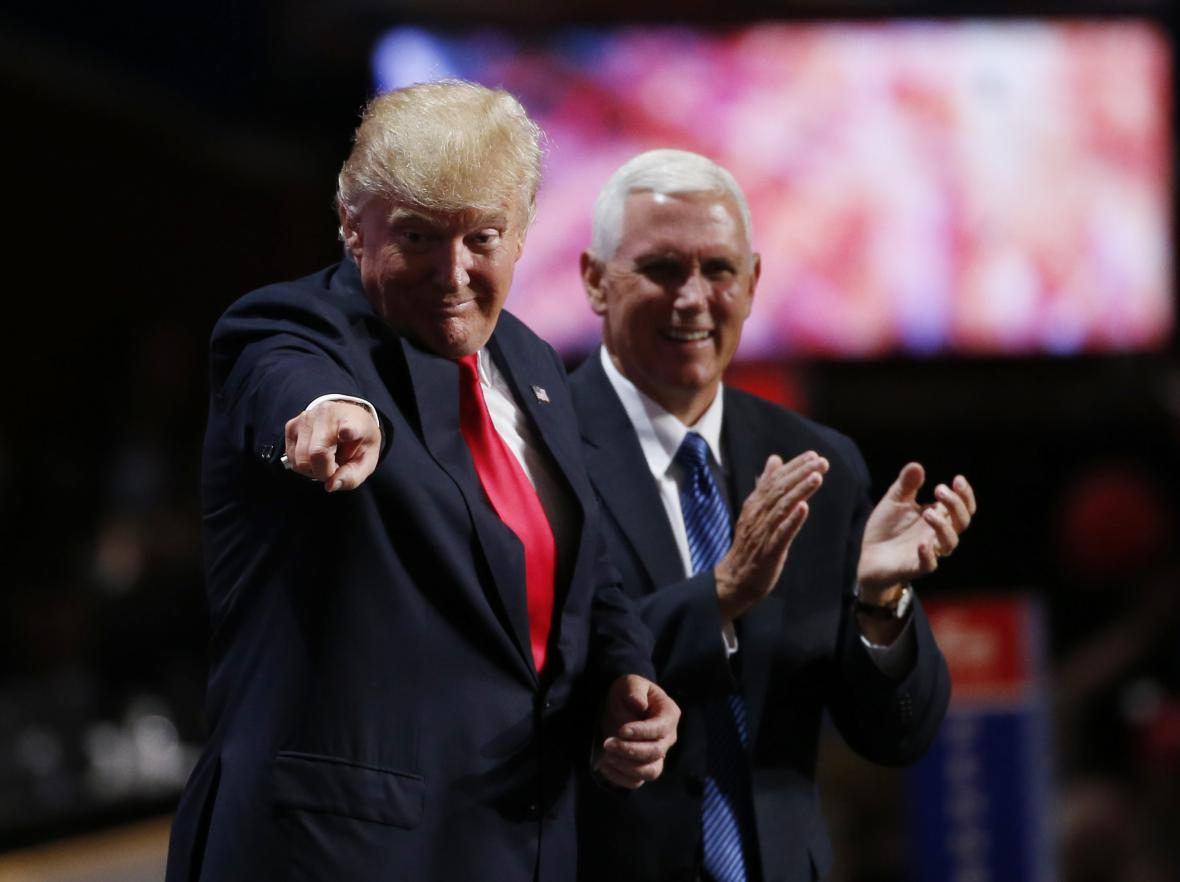 Donald Trump a Mike Pence