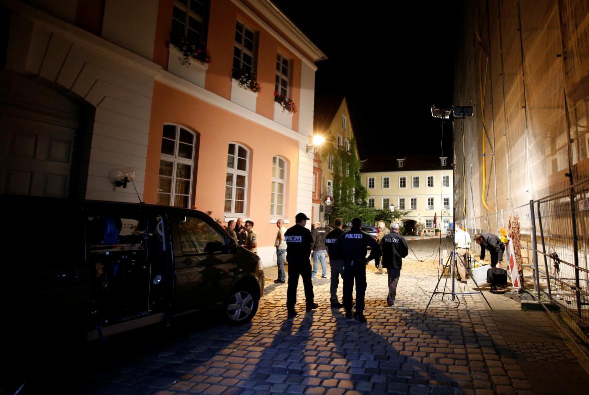 Policie hlídá okolí útoku v bavorském Ansbachu