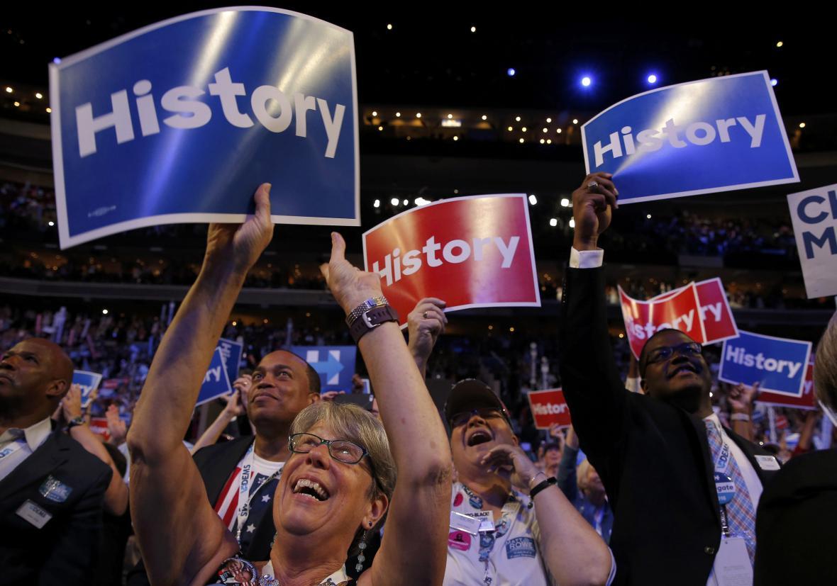 Oslavy nominace Clintonové