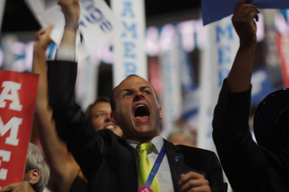 Emoce na sjezdu demokratů