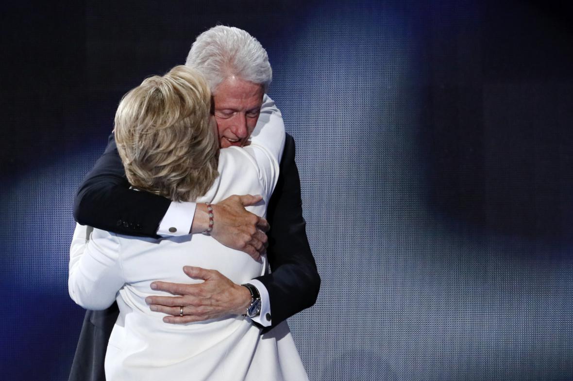 Hillary Clintonová se svým manželem Billem