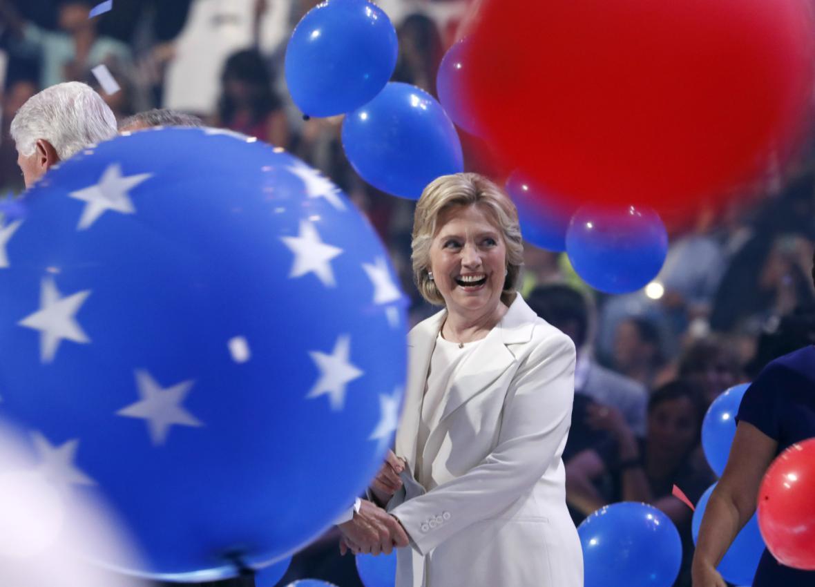Hillary Clintonová v závěru demokratického sjezdu