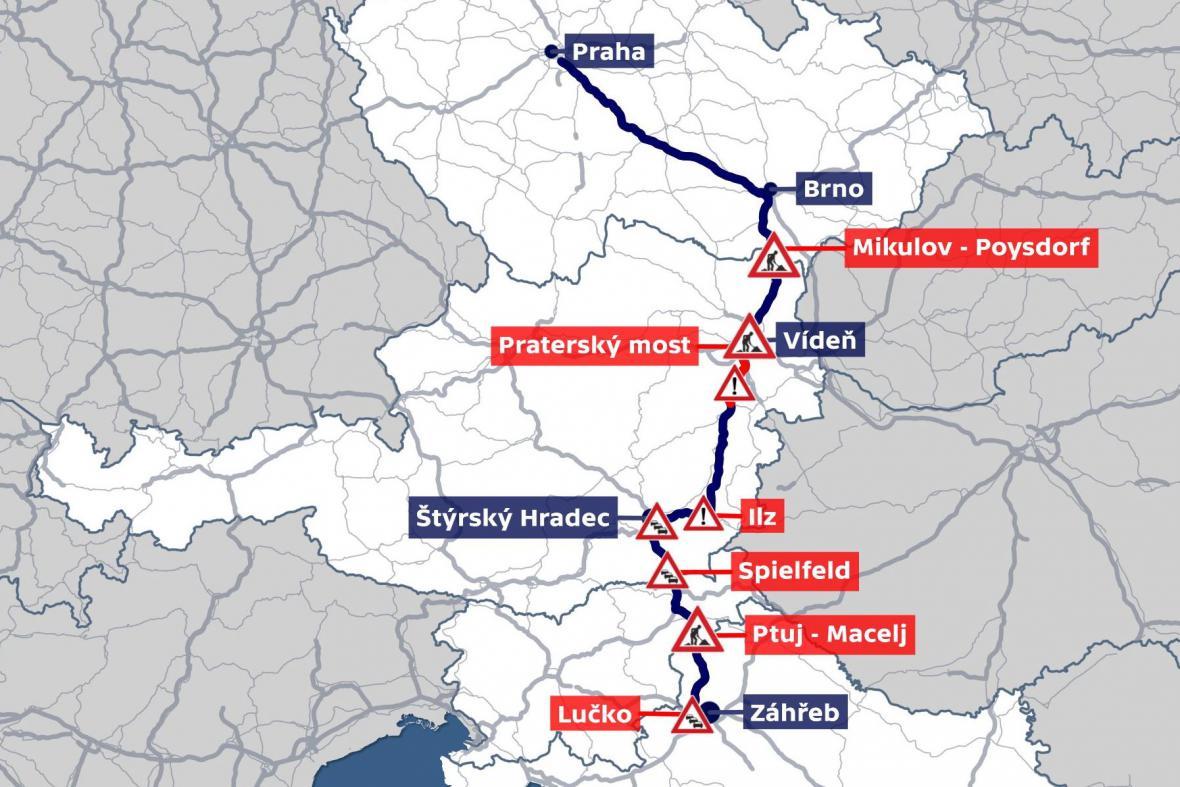 Dopravní komplikace na cestě do Chorvatska