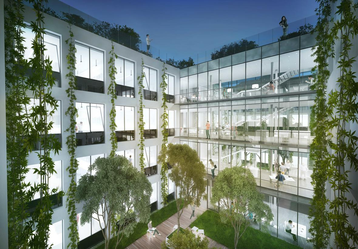 Návrh Globcentra od studia Atelier M1 architekti