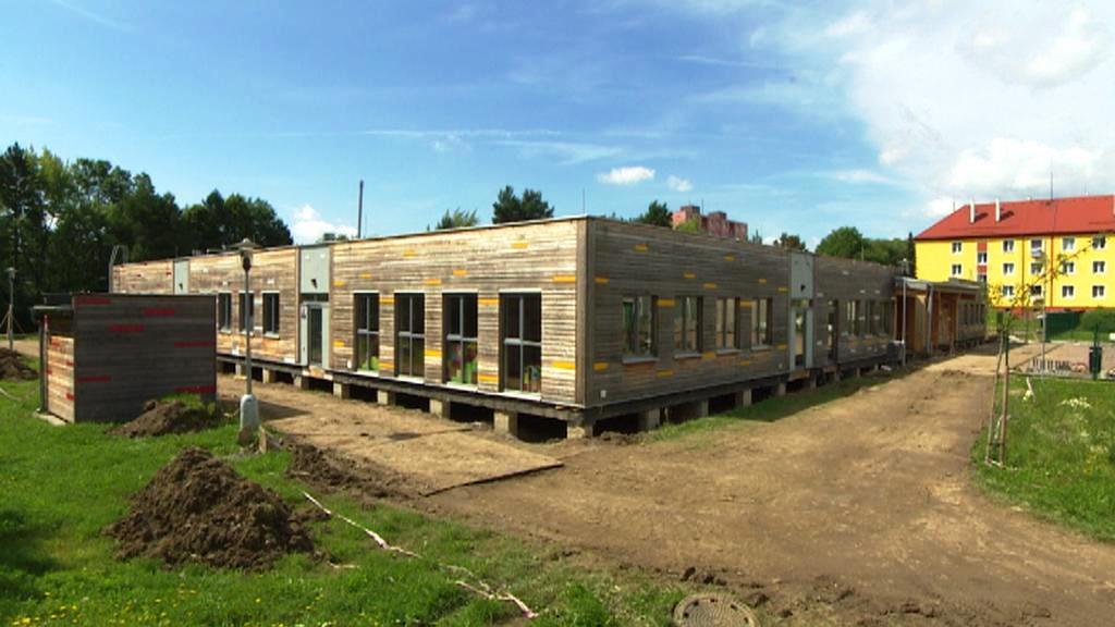 Dřevěná školka v Mariánských Lázních