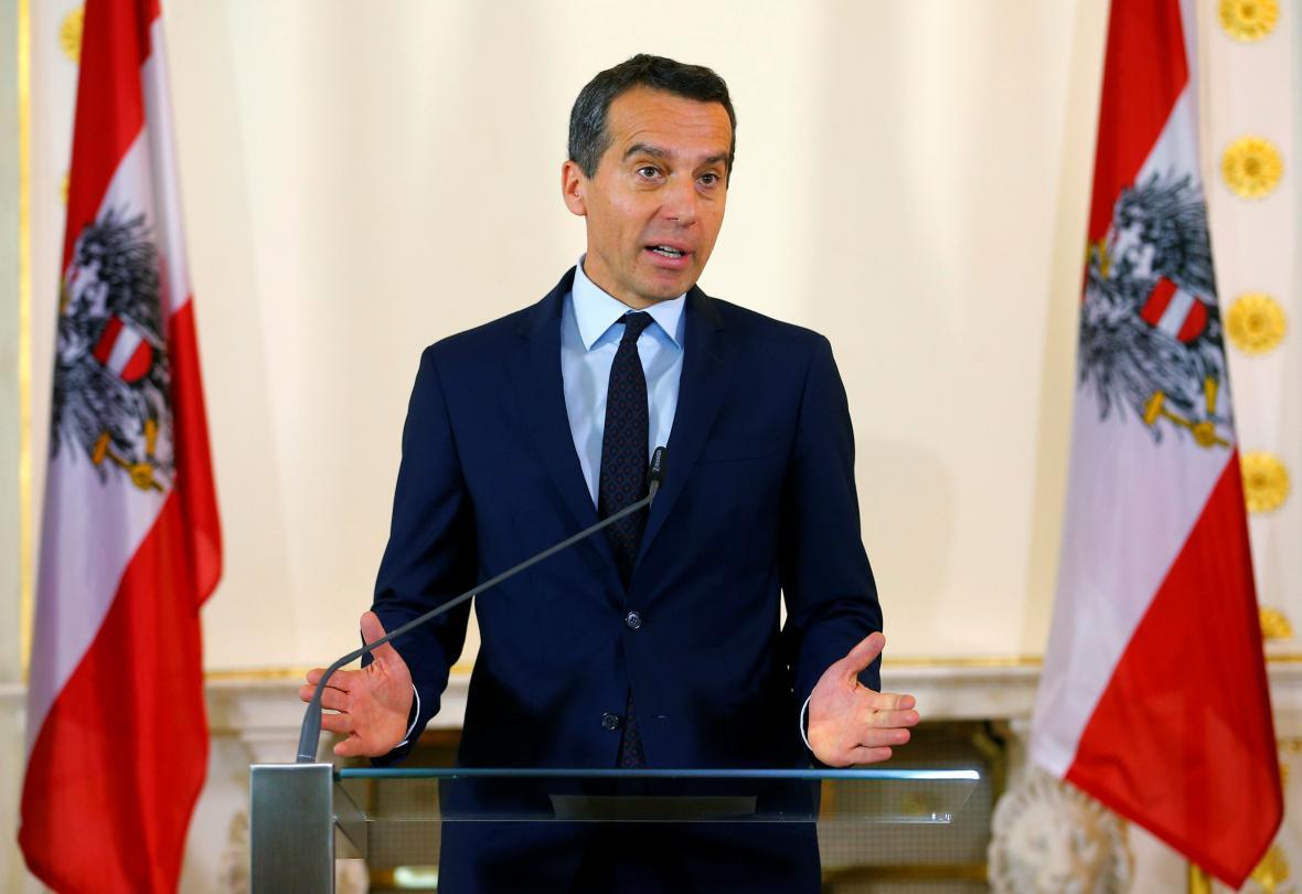 Rakouský kancléř Christian Kern