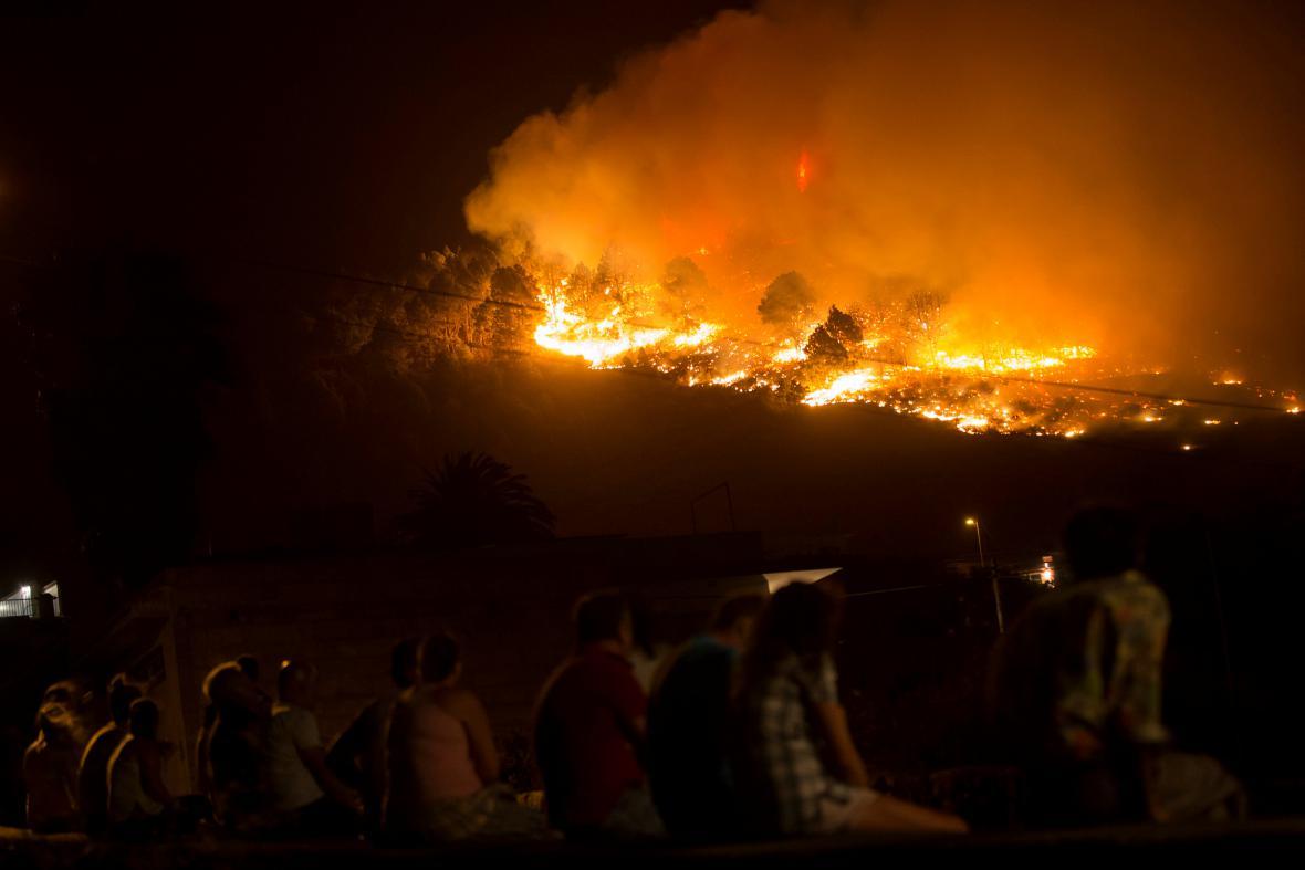Požár na La Palmě