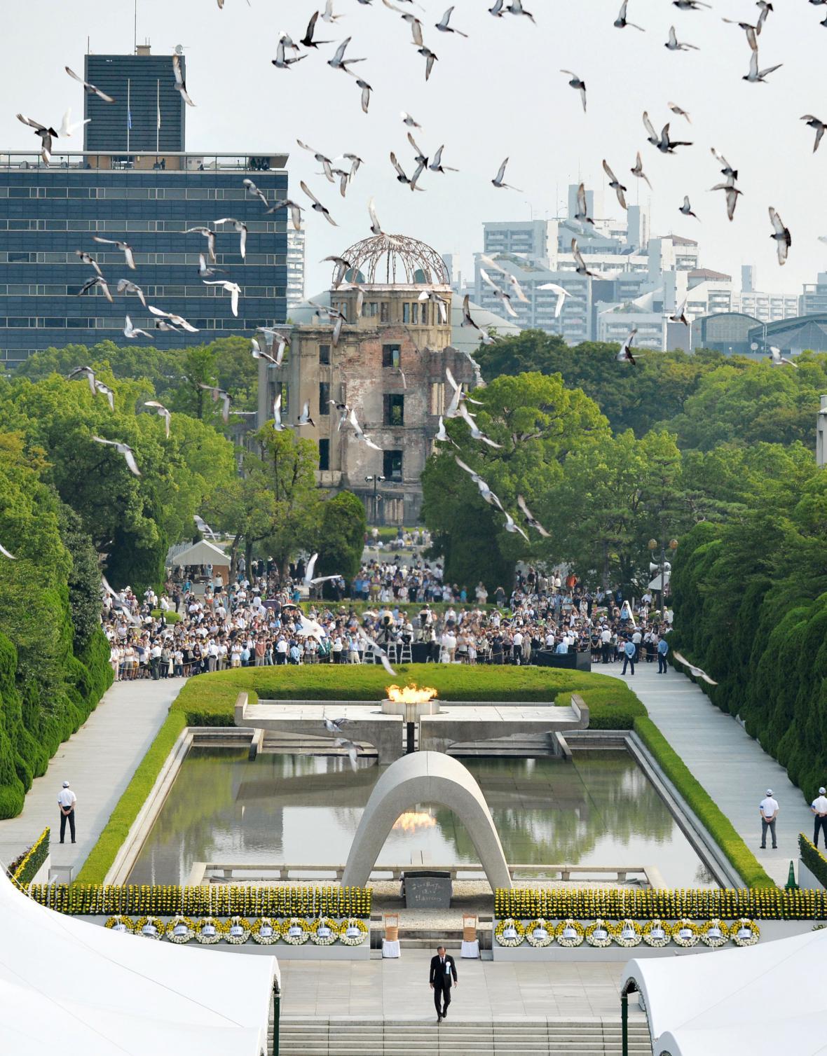 Pietní akce v Hirošimě
