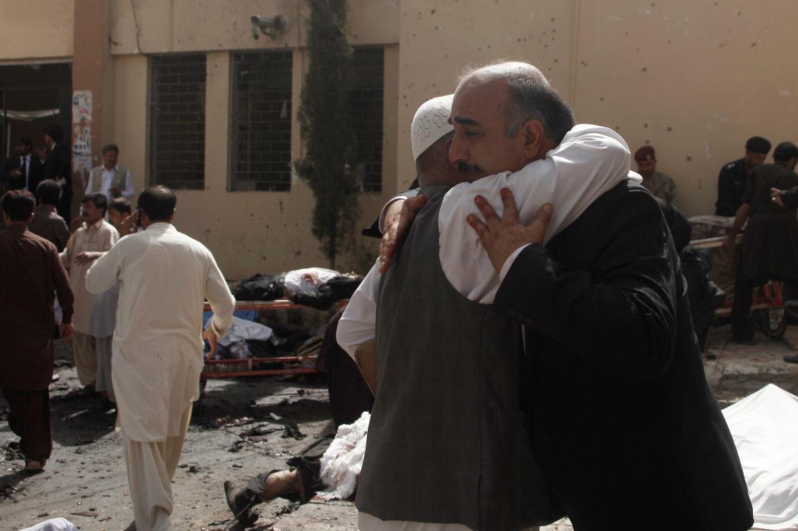 Nemocnice v pákistánském městě Kvéta po výbuchu bomby