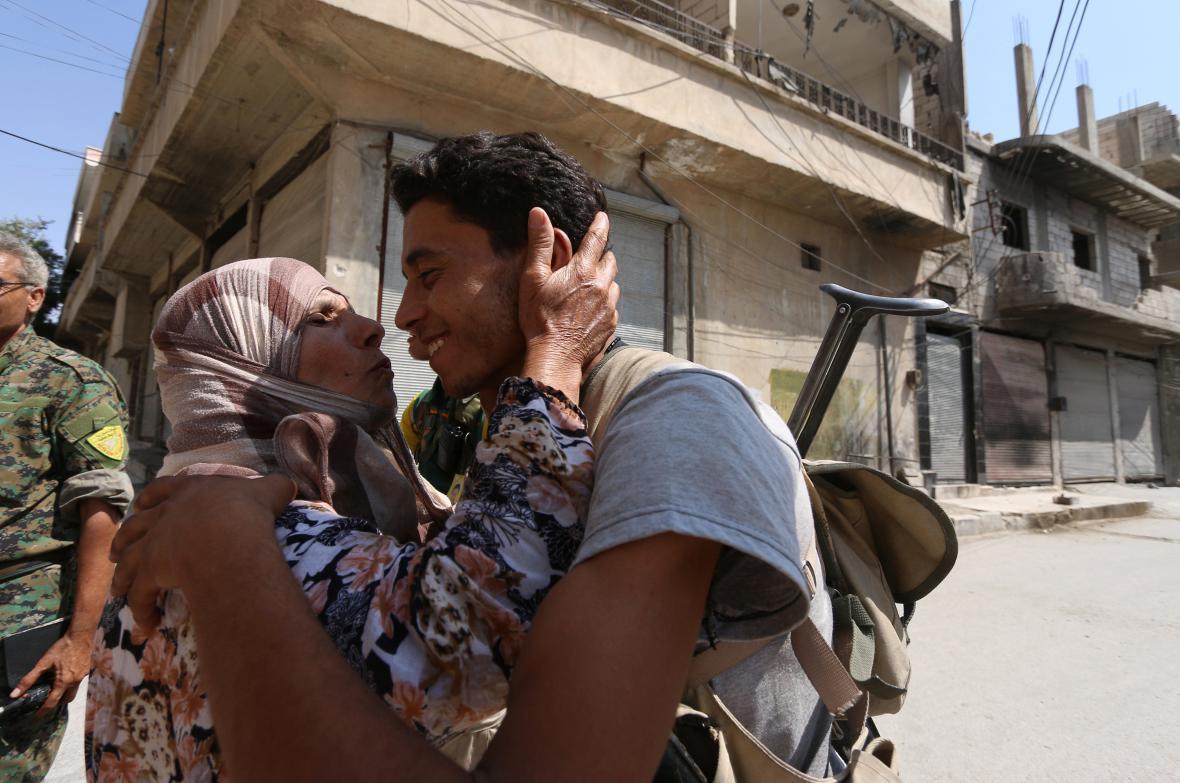 Lidé v Aleppu