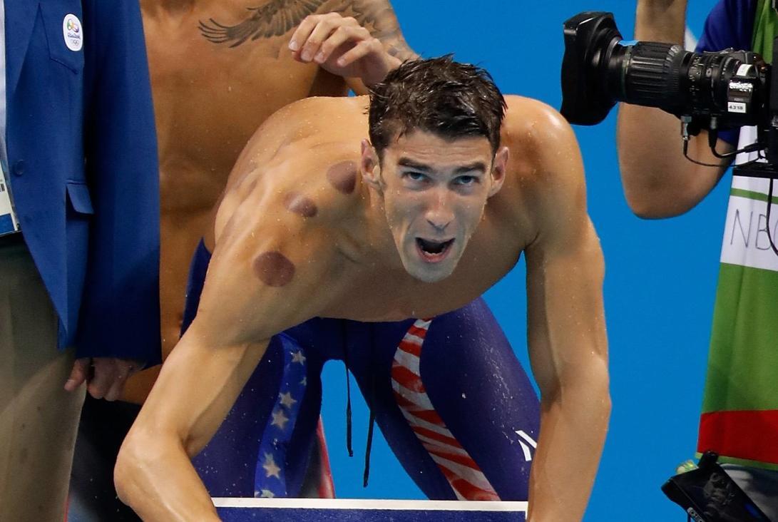 Michael Phelps (USA) na olympiádě v Riu de Janeiru