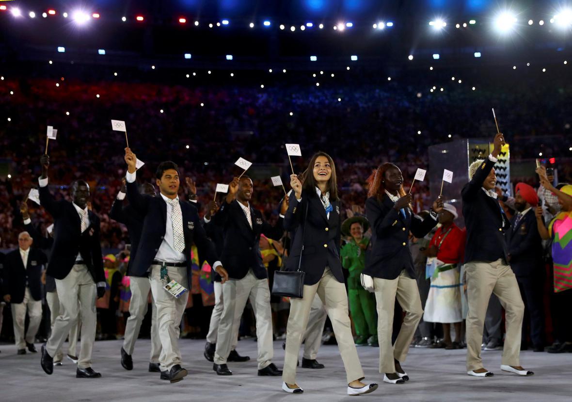 Uprchlický tým na olympiádě v Riu