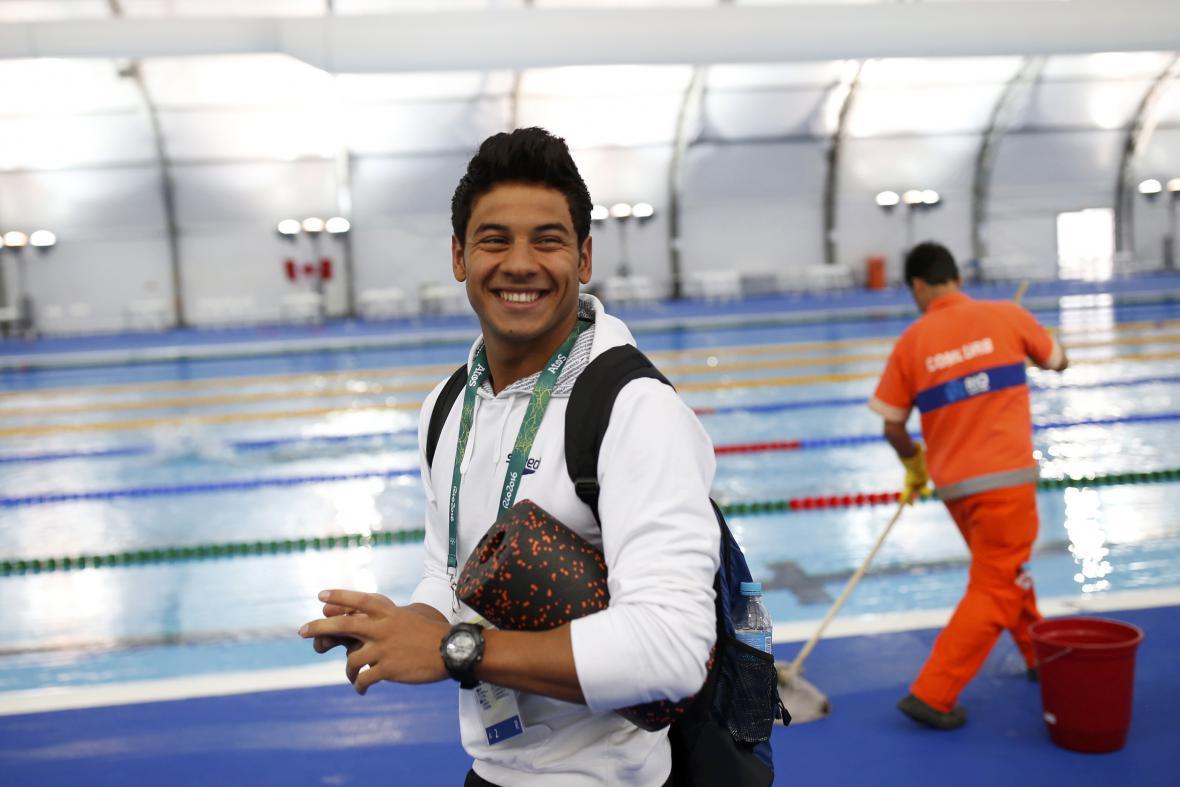 Syrský plavec Rami Anis