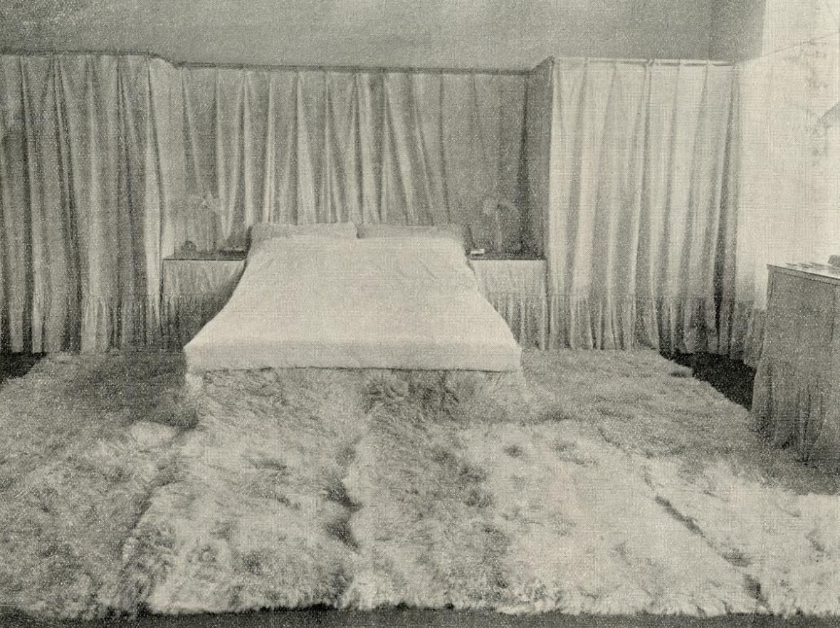 Ložnice Liny a Adolfa Loosových, Vídeň (Adolf Loos, 1903)