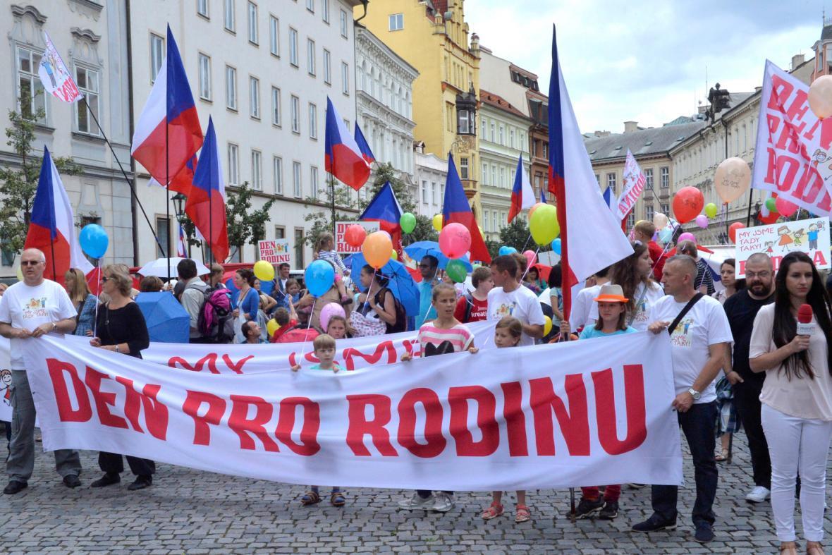 Pochod během Dne pro rodinu