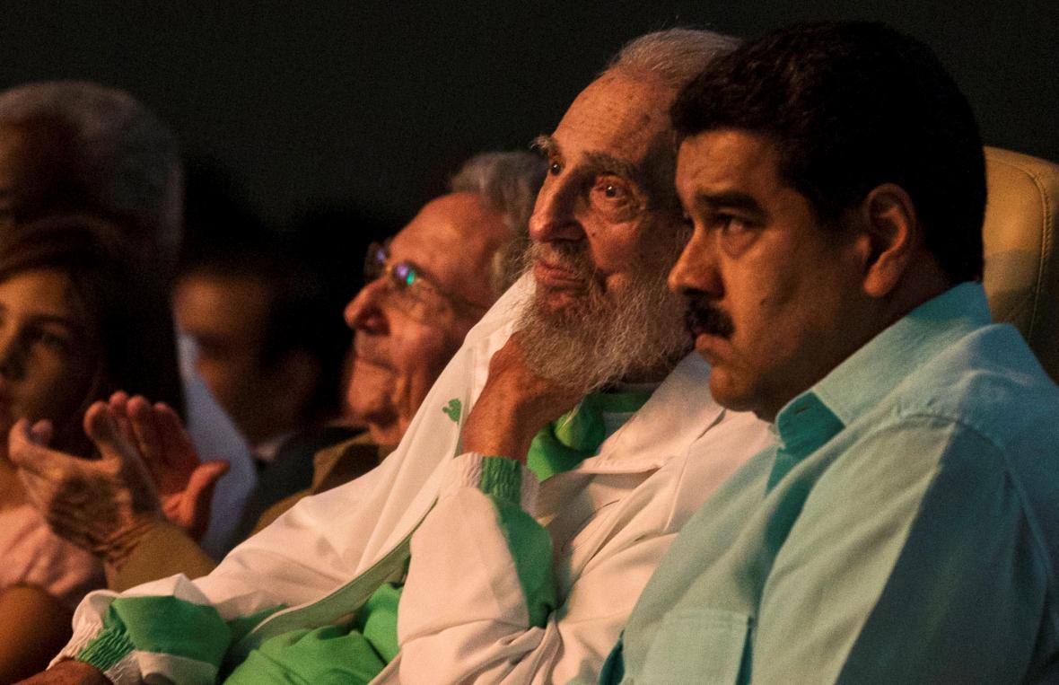 Fidel Castro a venezuelský prezident Nicolas Maduro