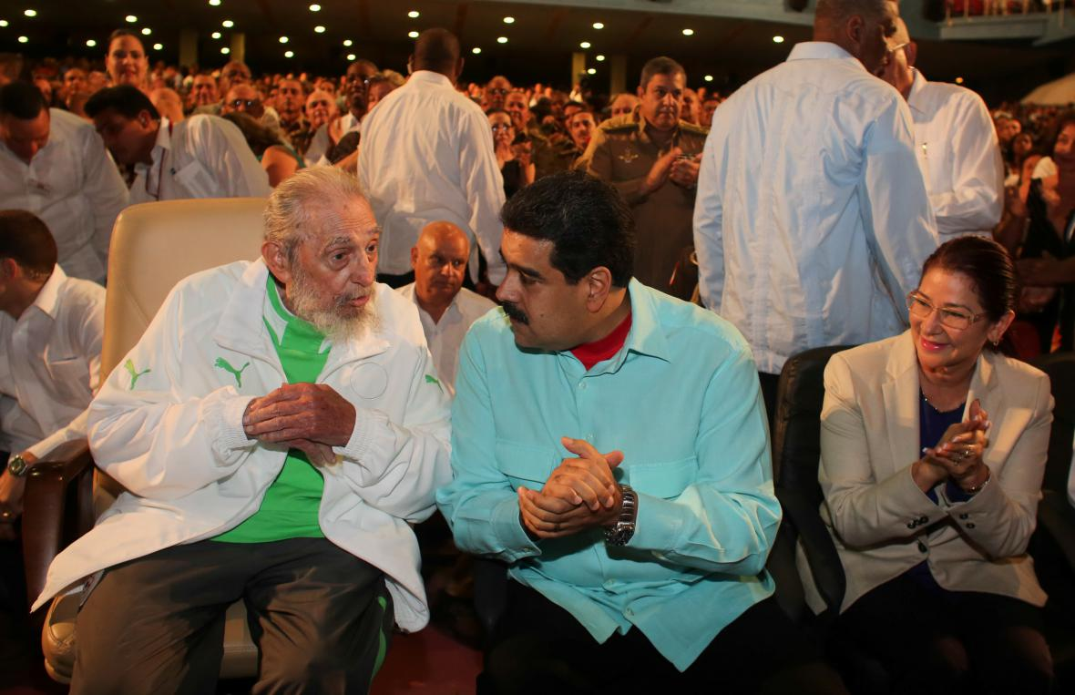 Fidel Castro a Nicolas Maduro