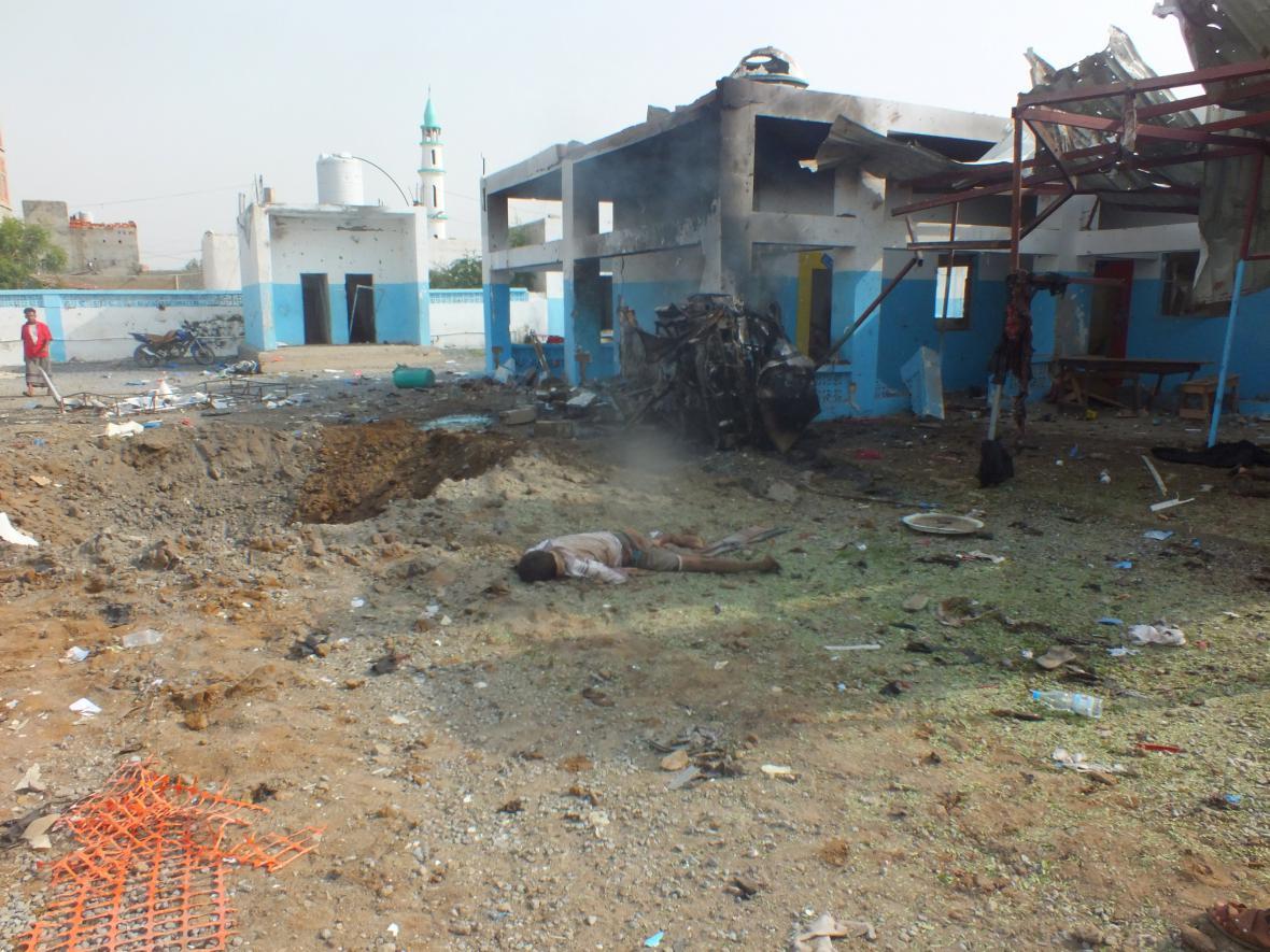 Útok na nemocnici v Jemenu