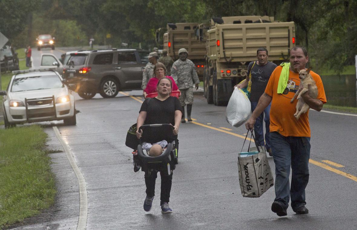 Evakuace v Louisianě