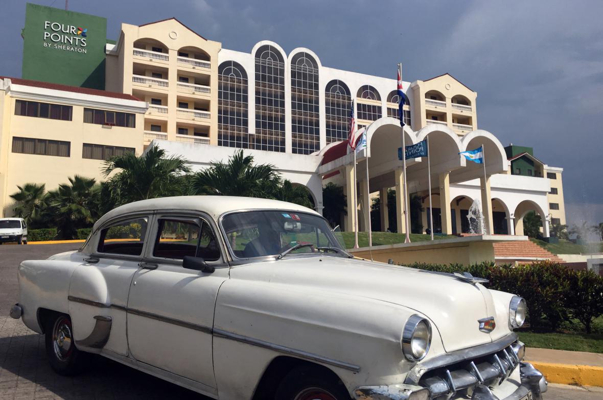 Americký hotel na Kubě