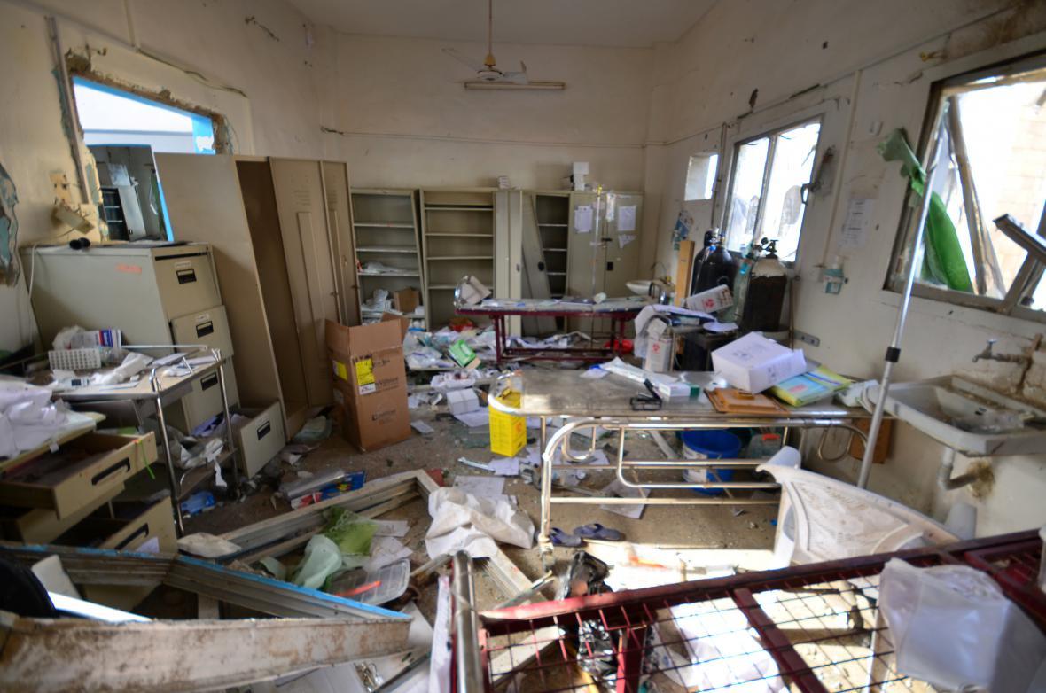 Zničená nemocnice, kterou vedli Lékaři bez hranic