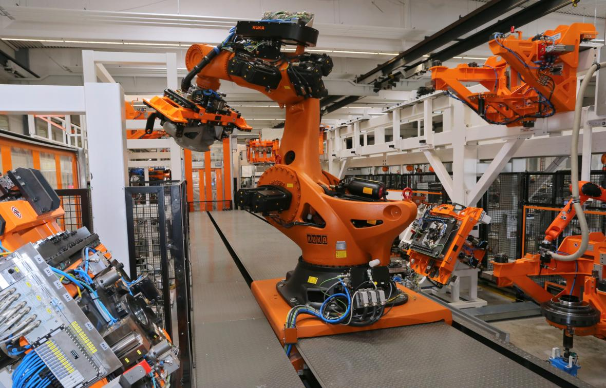 Roboty v německé firmě Kuka