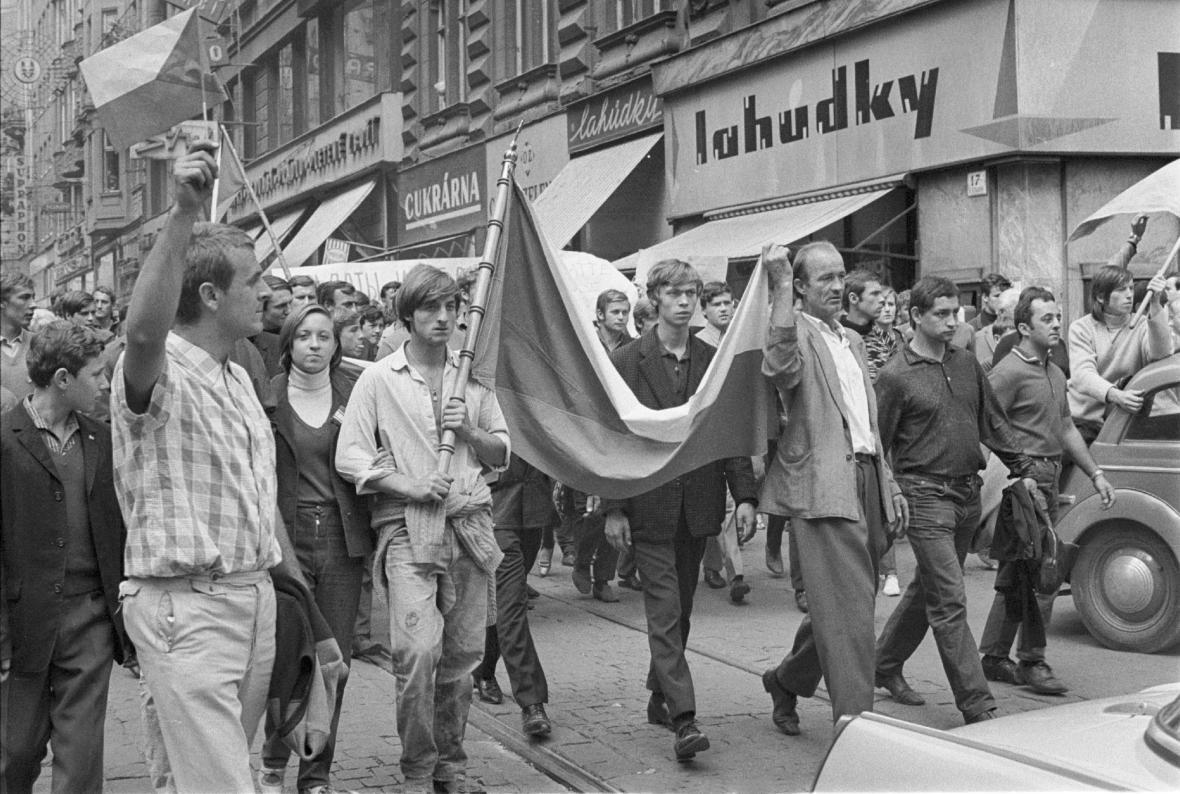Srpen 1968 v ulicích Brna