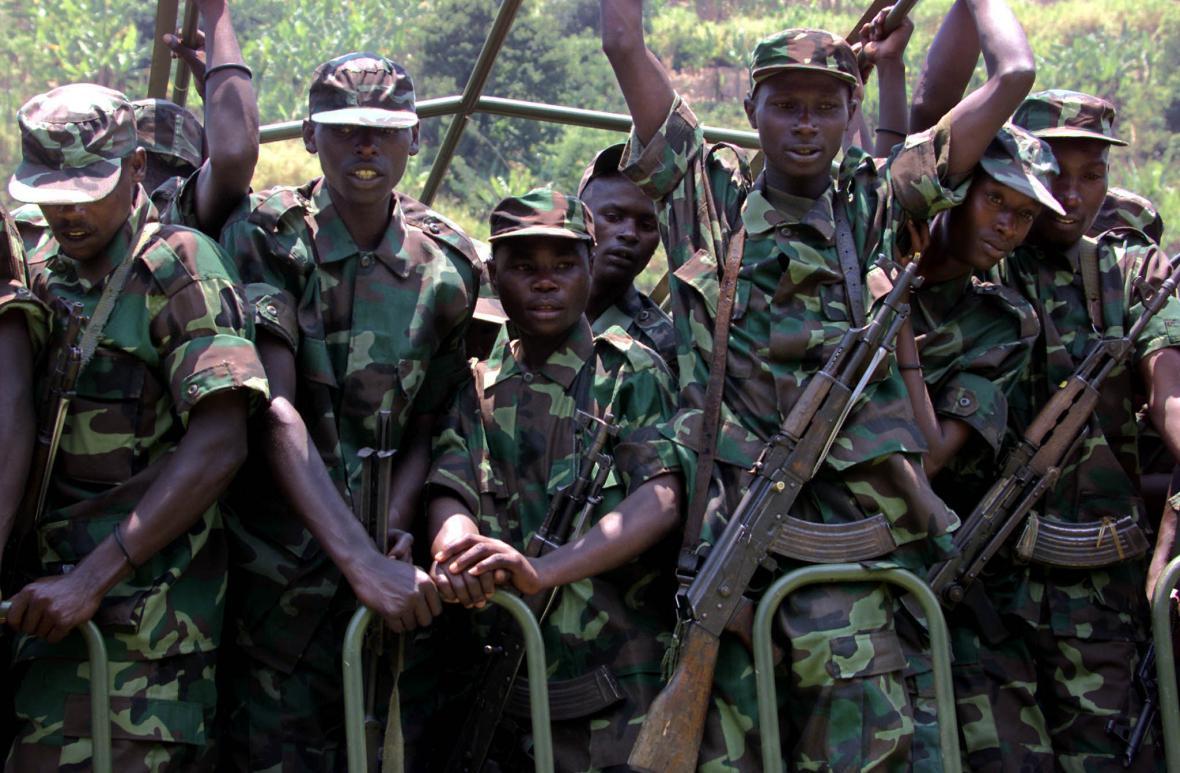 Příslušníci rwandské armády