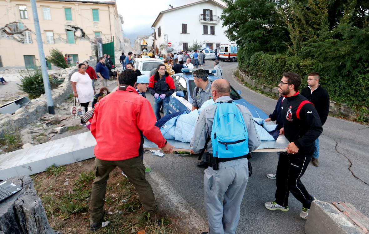 Zemětřesení ve střední Itálii mělo hodnotu přes 6 stupňů