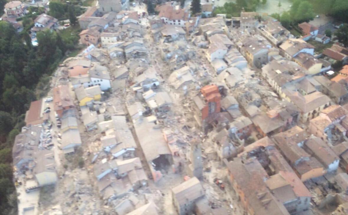 Zdevastované město Amatrice