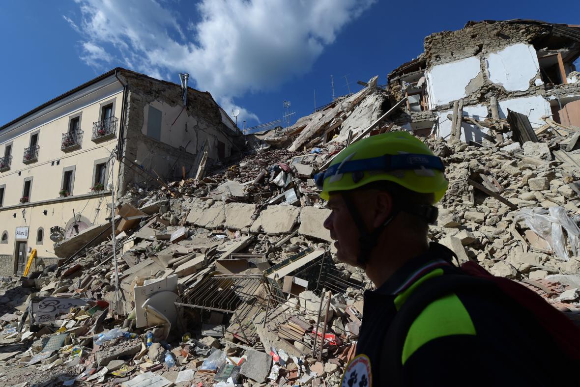 Zničené město Amatrice