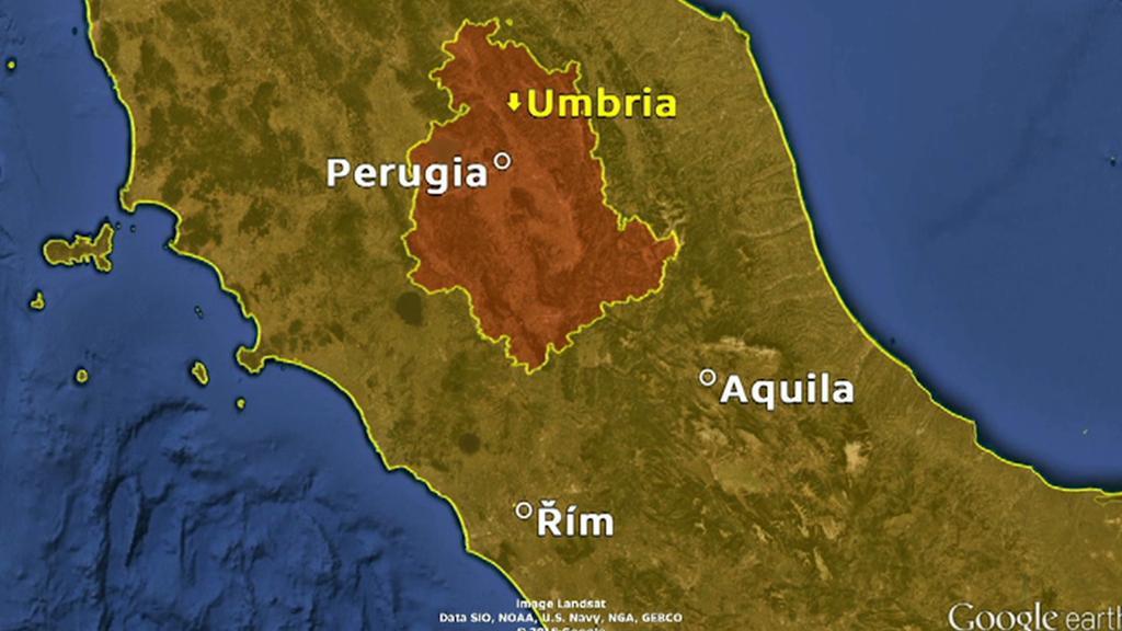 Oblast, kde došlo k zemětřesení
