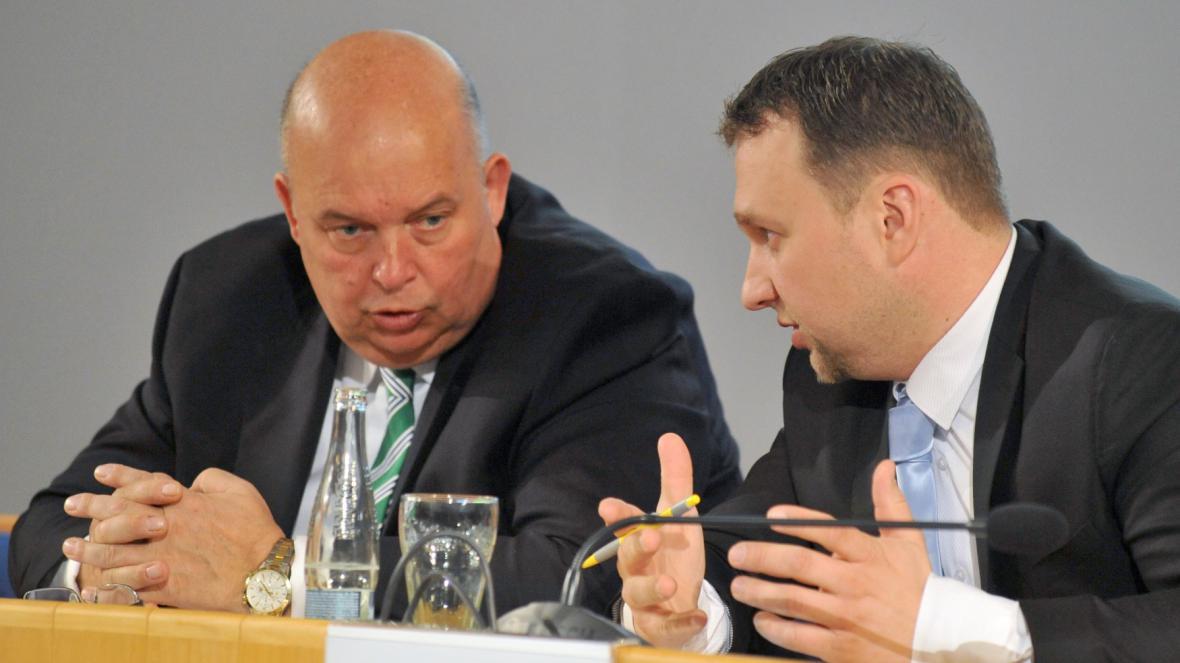 Šéf agrární komory Miroslav Toman s ministrem zemědělství Marianem Jurečkou