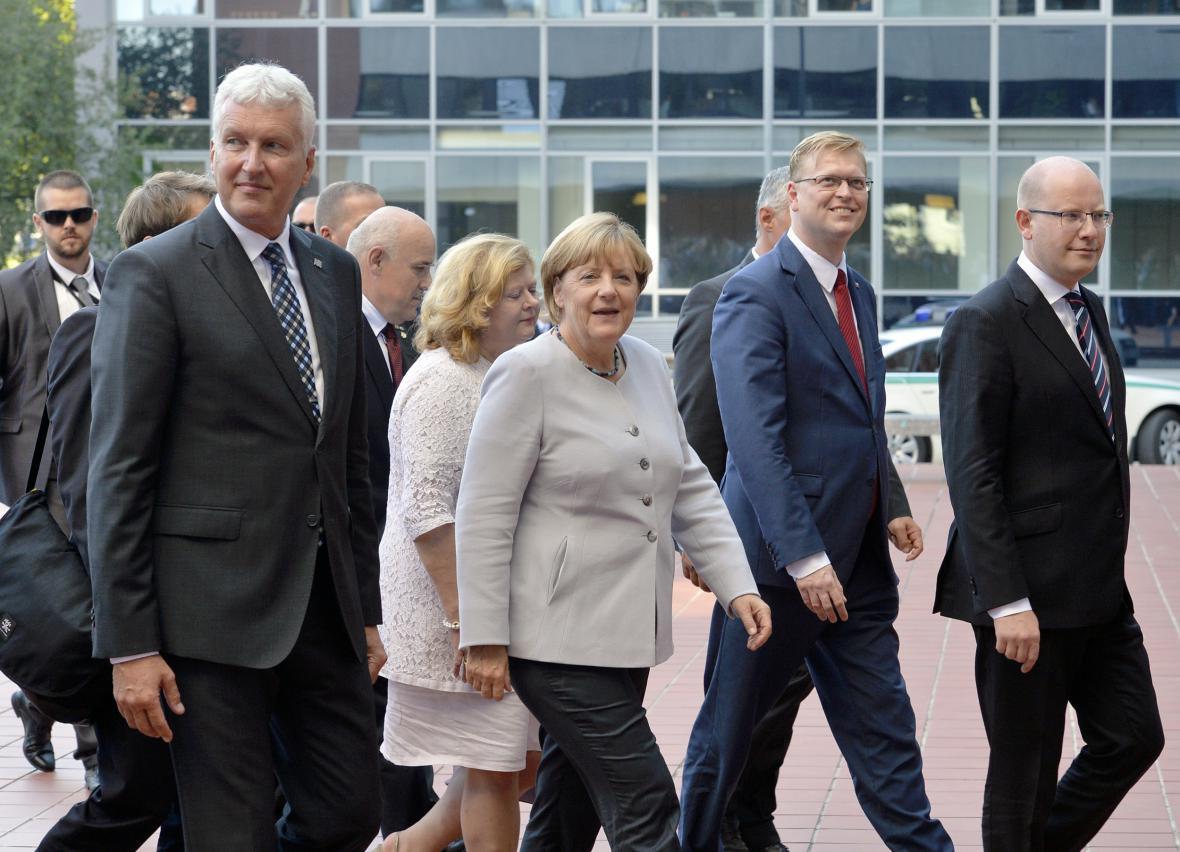 Angela Merkelová na návštěvě ČVUT