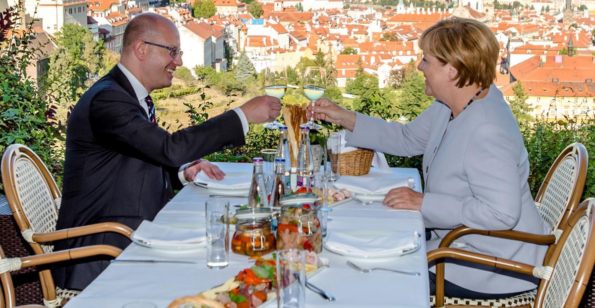 Bohuslav Sobotka a Angela Merkelová