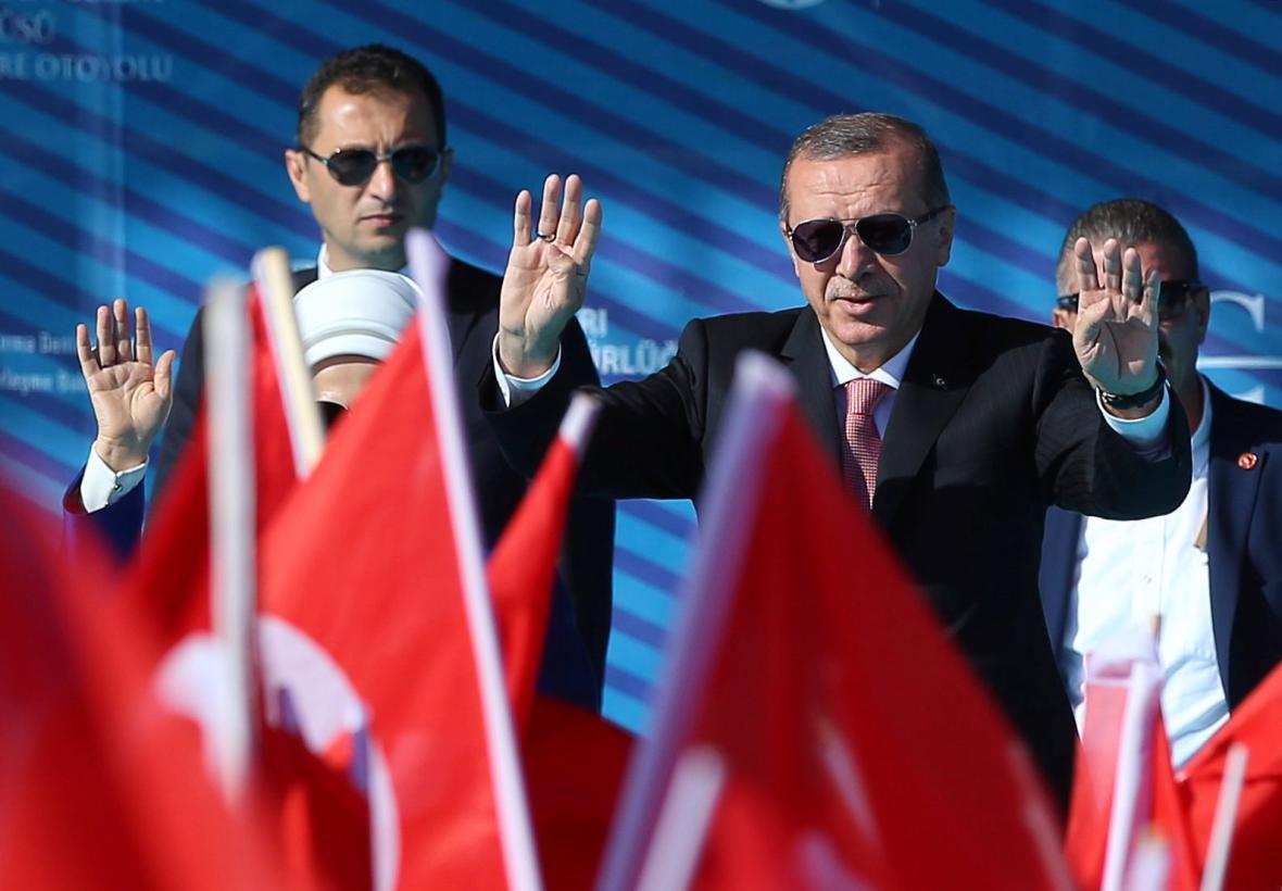 Turecký prezident na zahajovací ceremonii