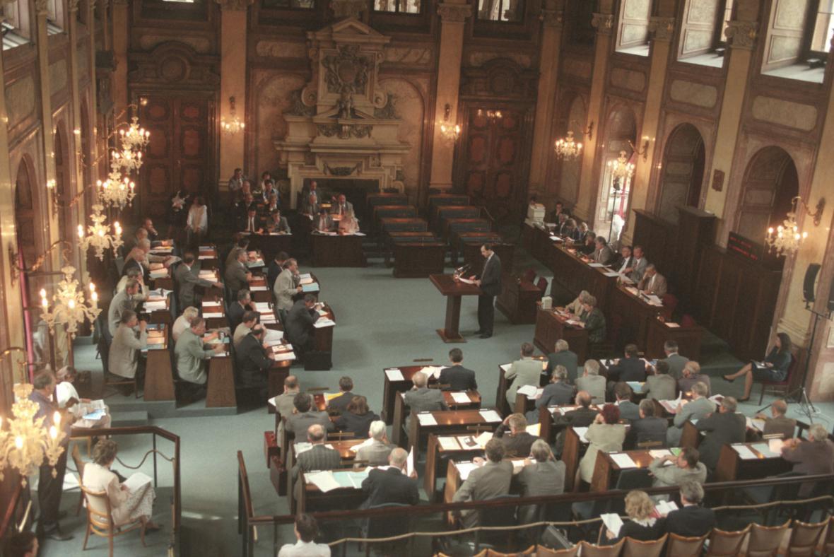 Hlavní sál Senátu ČR