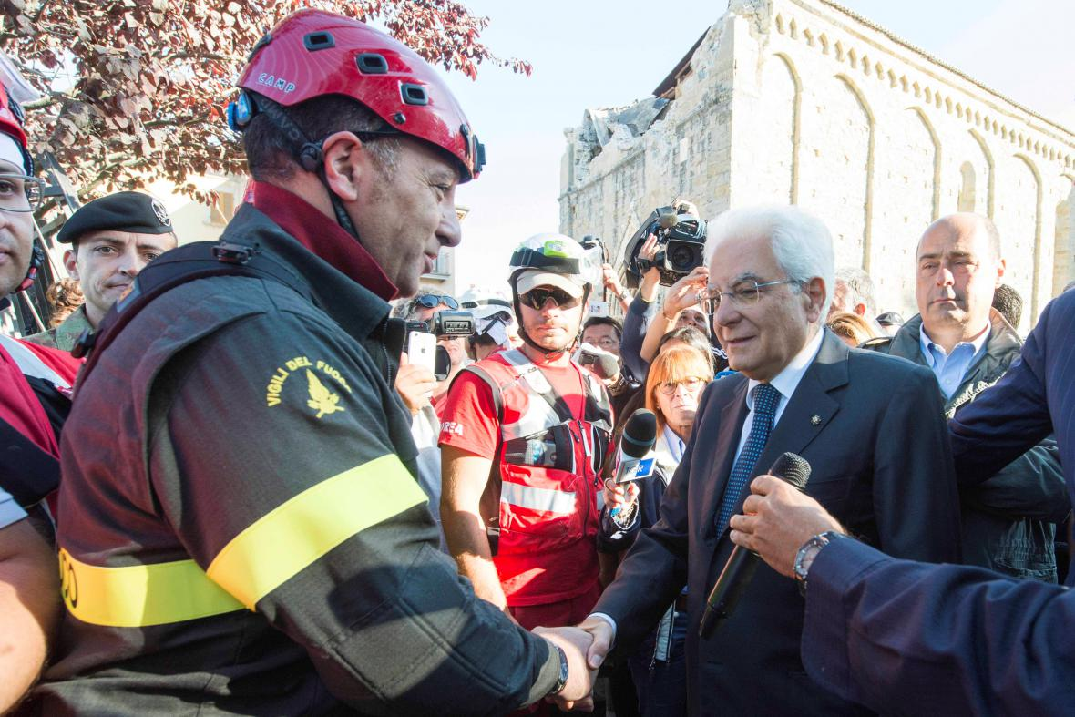 Italský prezident navštívil Amatrice