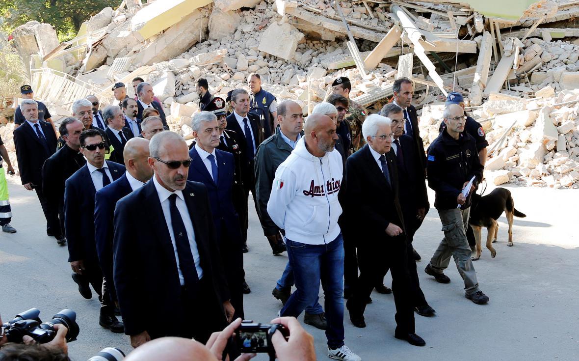 Italský prezident v Amatrice