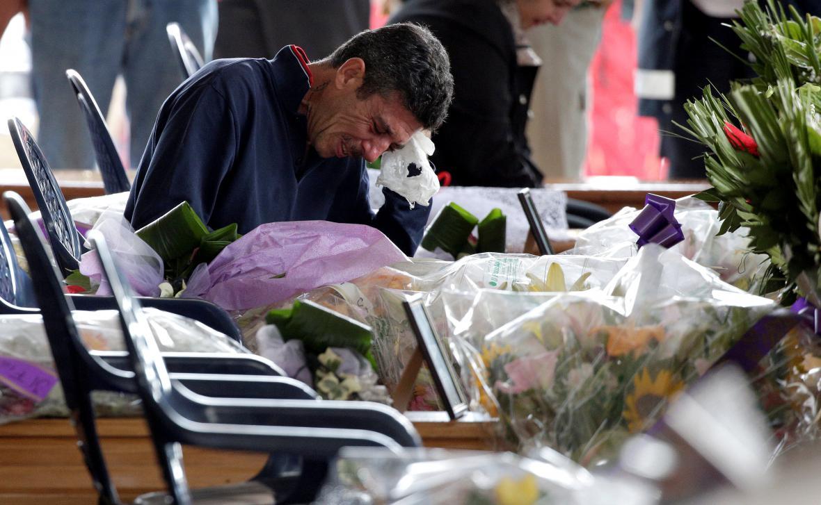 Pohřeb obětí zemětřesení v Amatrice