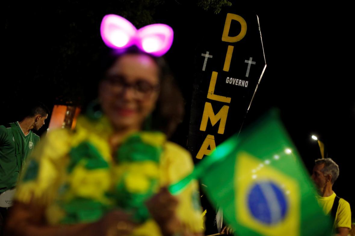 Příznivci brazilské prezidentky