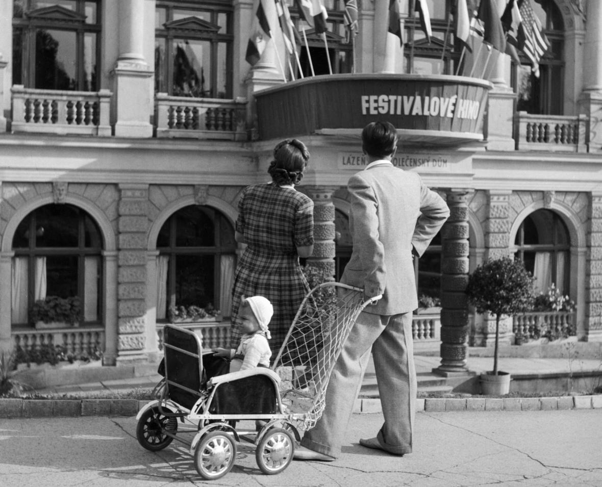 Filmový festival v Mariánských lázních 1949