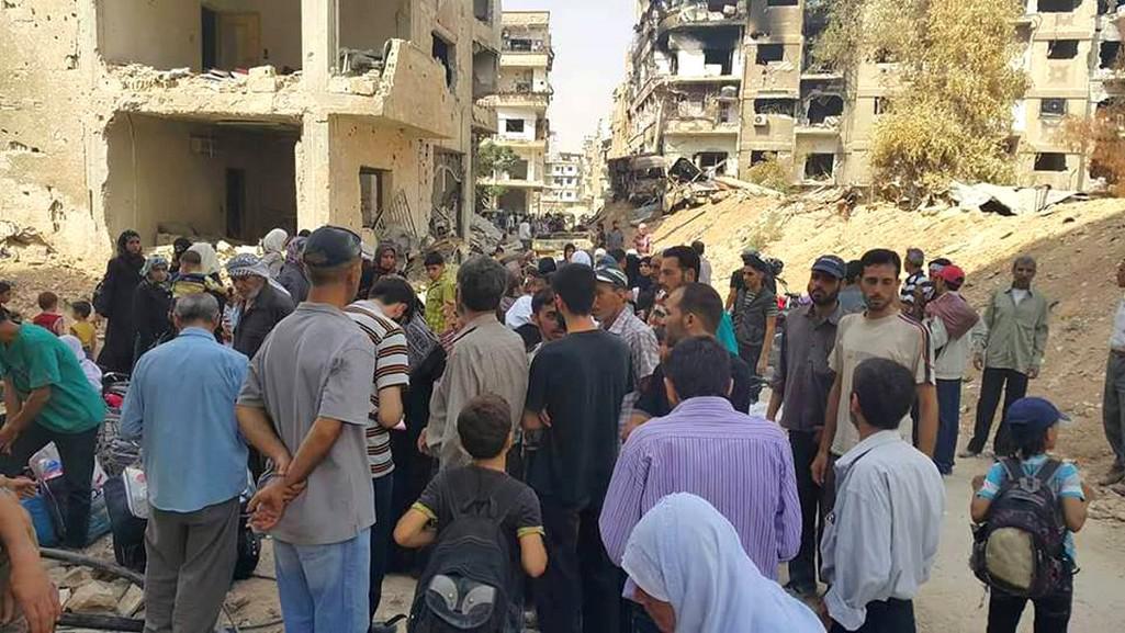Evakuace předměstí Damašku