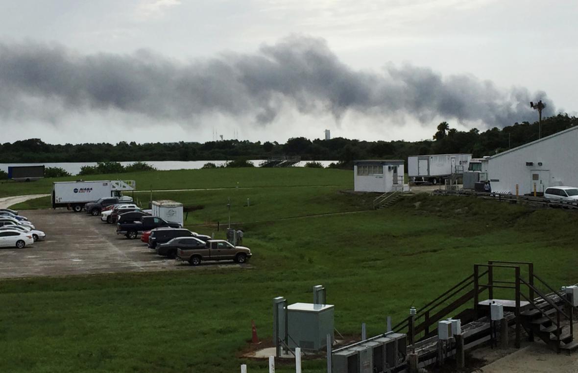 Výbuch rakety Falcon 9