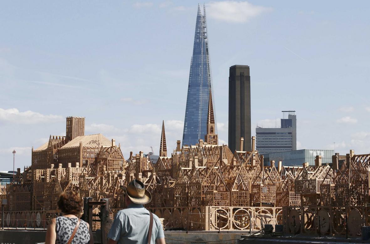 Maketa historického Londýna