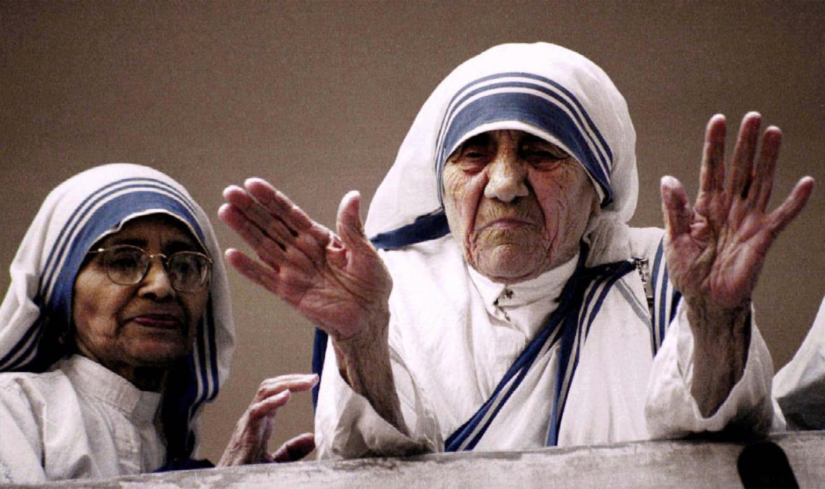 Matka Tereza na snímku z roku 1997