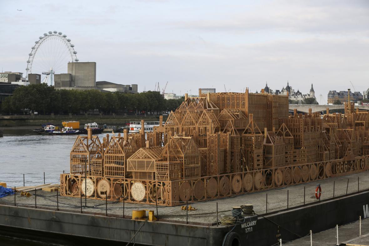 maketa historické části Londýna