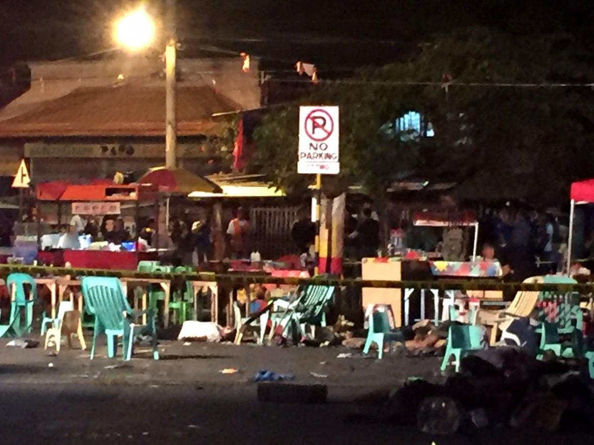 Výbuch ve filipínském Davau