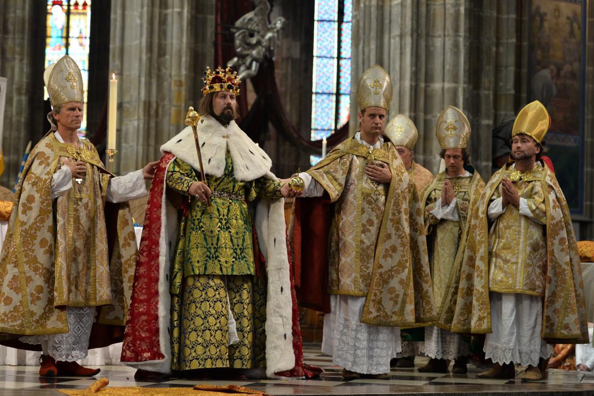 Rekonstrukce korunovace Karla IV. na českého krále