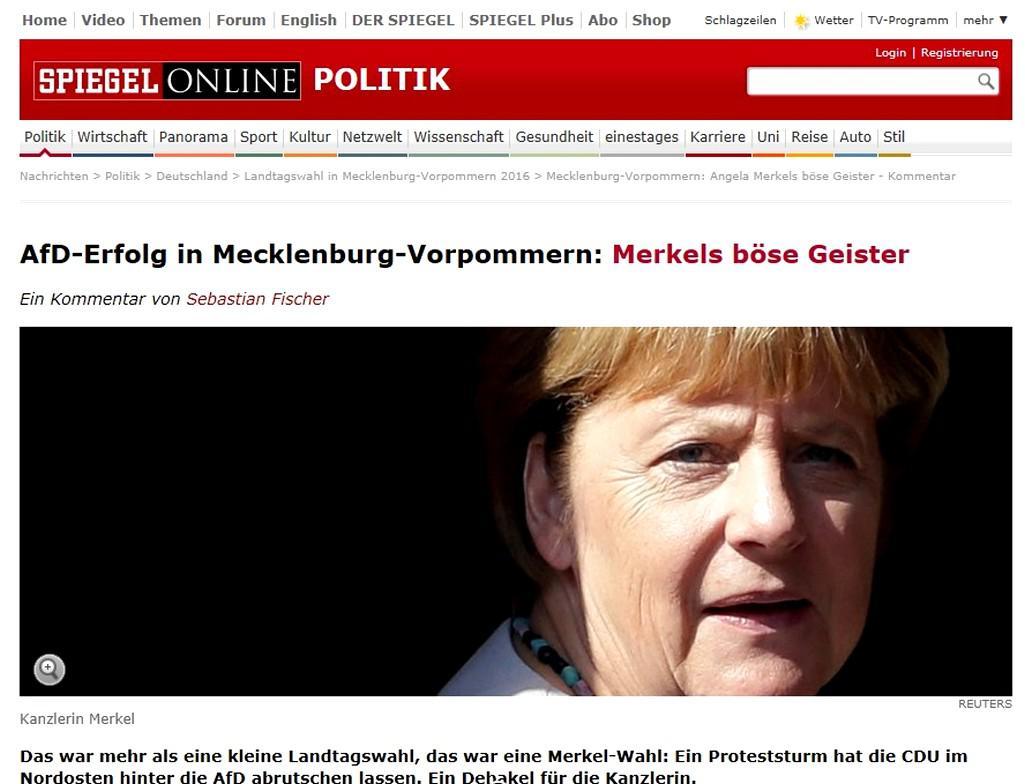 Spiegel o debaklu CDU